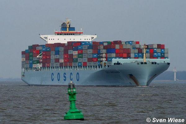 Cosco Vancouver - Einmaliger Besuch in Hamburg