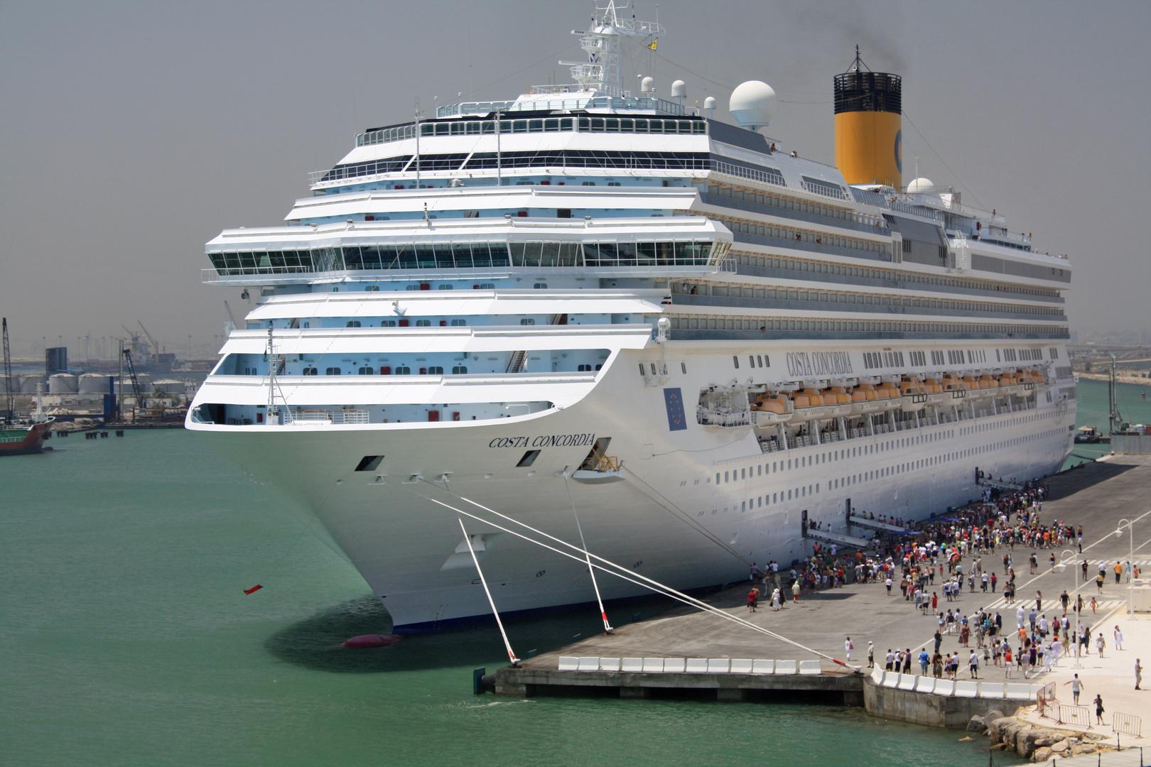 Costa Concordia in Tunis 2009