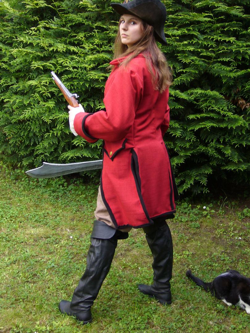 costume femme pirate avec manteau 18 ème