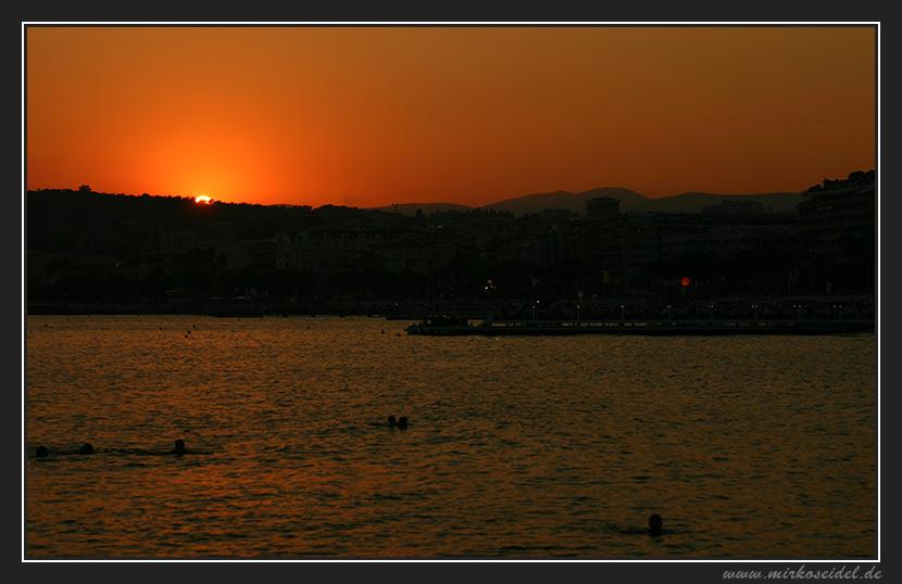 Côte D' Azur - Sonnenuntergang mit Vorfreude