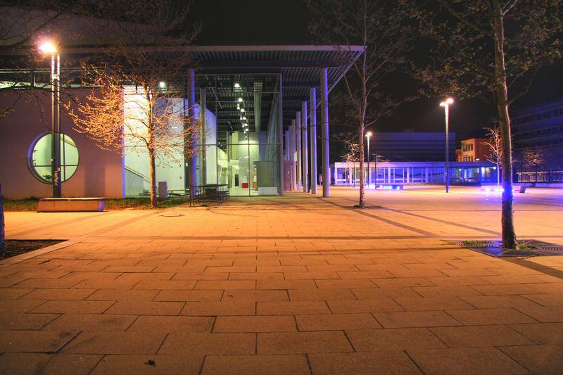 Cottbuser Campus bei Nacht