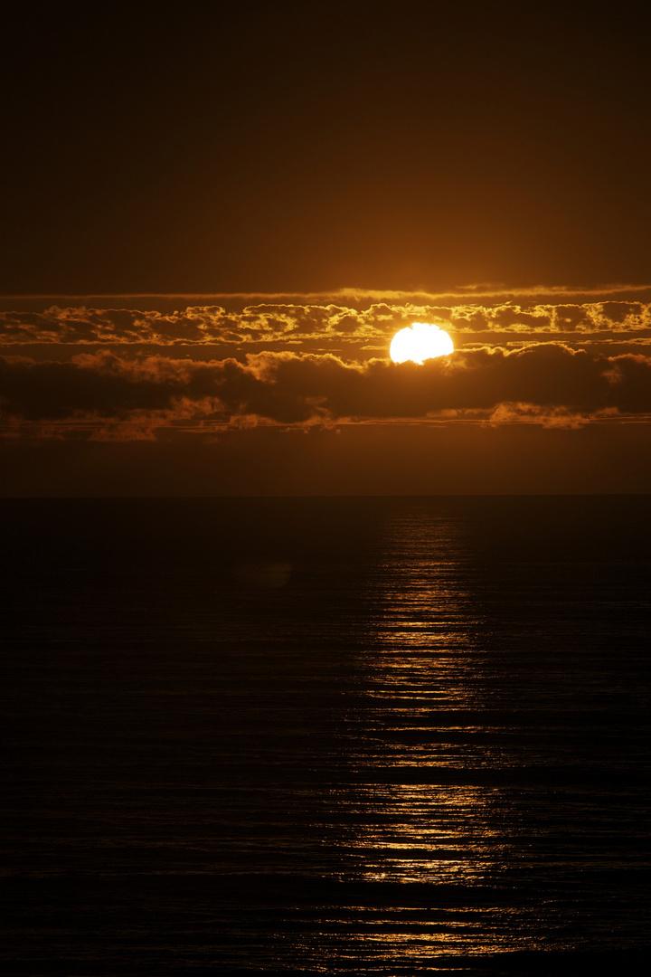 couché de soleil à Biscarosse