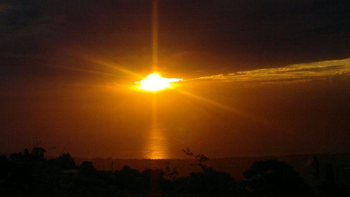 couché de soleil à la Reunion