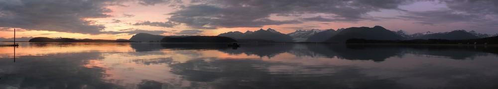 Couché de soleil en Alaska