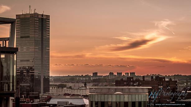 Couché de soleil sur Bruxelles ...