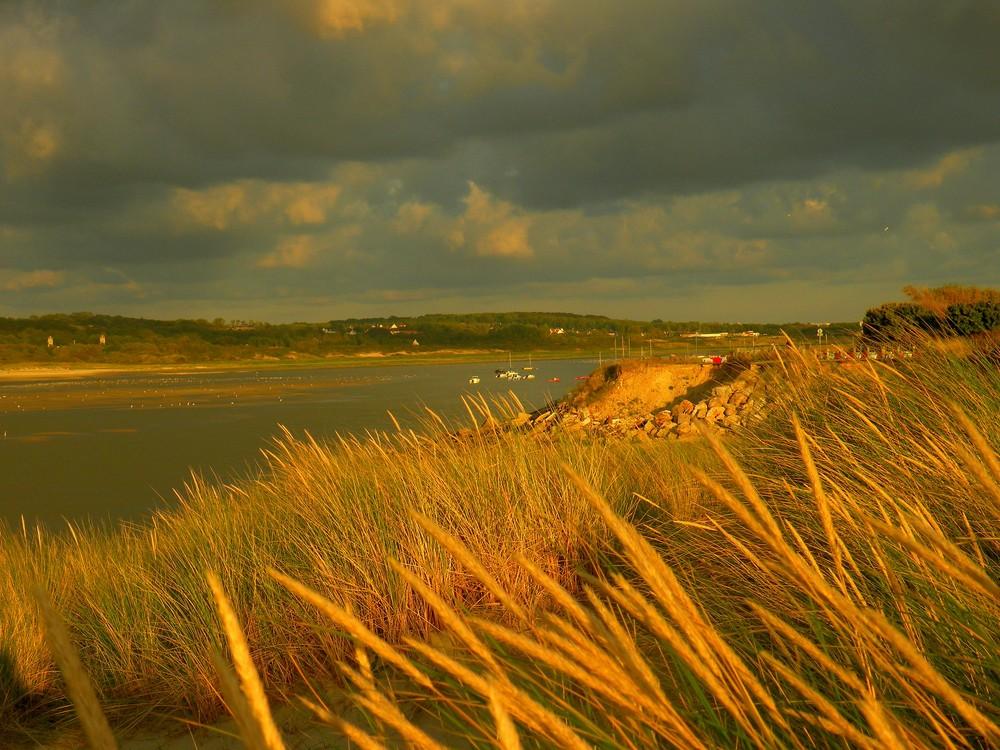 Couché de soleil sur la Baie de la Canche.