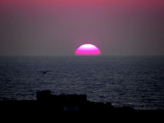 Couché de soleil sur la baie de Portissol