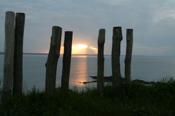 couché de soleil sur la baie de st brieuc