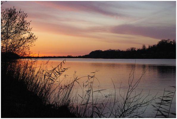 Couché de soleil sur la Dordogne !