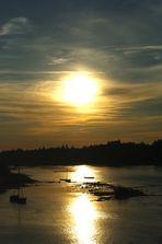 Couché de soleil sur la Loire - dans le Loiret