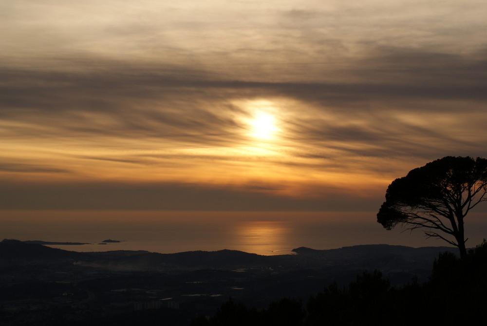 Couché de soleil sur la Rade de Toulon