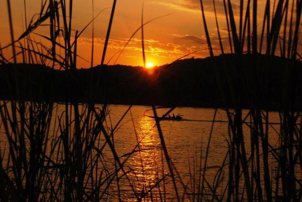 Couché de soleil sur le mekong