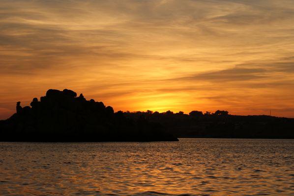 Couché de soleil sur le temple de Philae