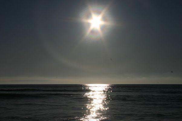 couché de soleil sur l'ocean