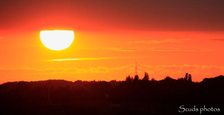 Couché de soleil sur Namur