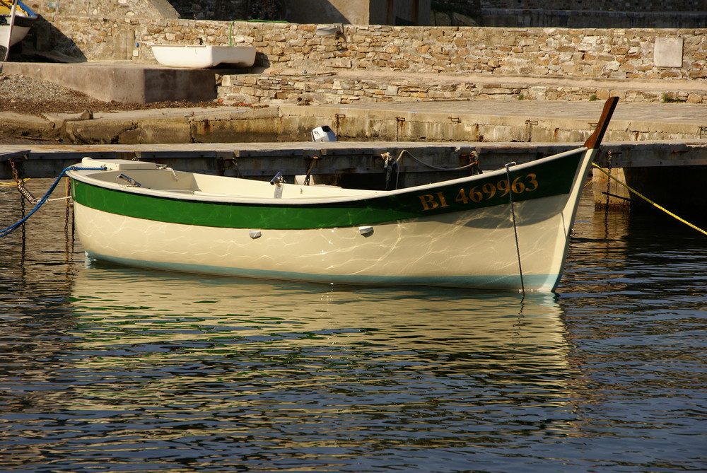 Couché de soleil sur un bateau