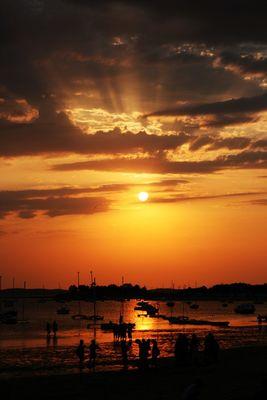 couché de soleil un 14 juillet