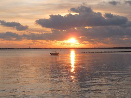 couchée de soleil à Trousse-Chemise ( Ile de Ré )