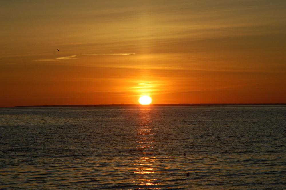 couchée du soleil à Pirita