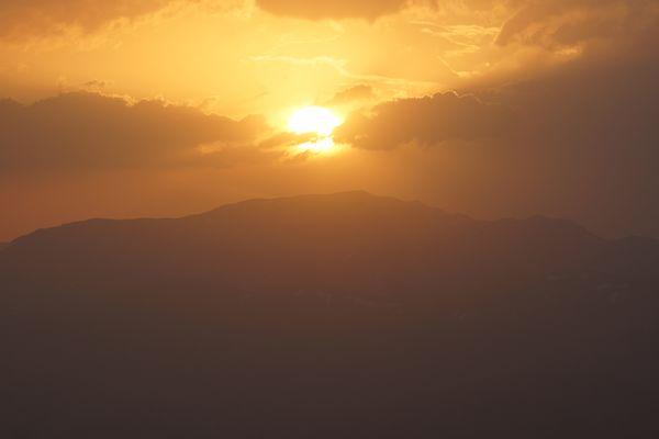 Coucher de solei depuis le Nemrut Dag, en Turquie