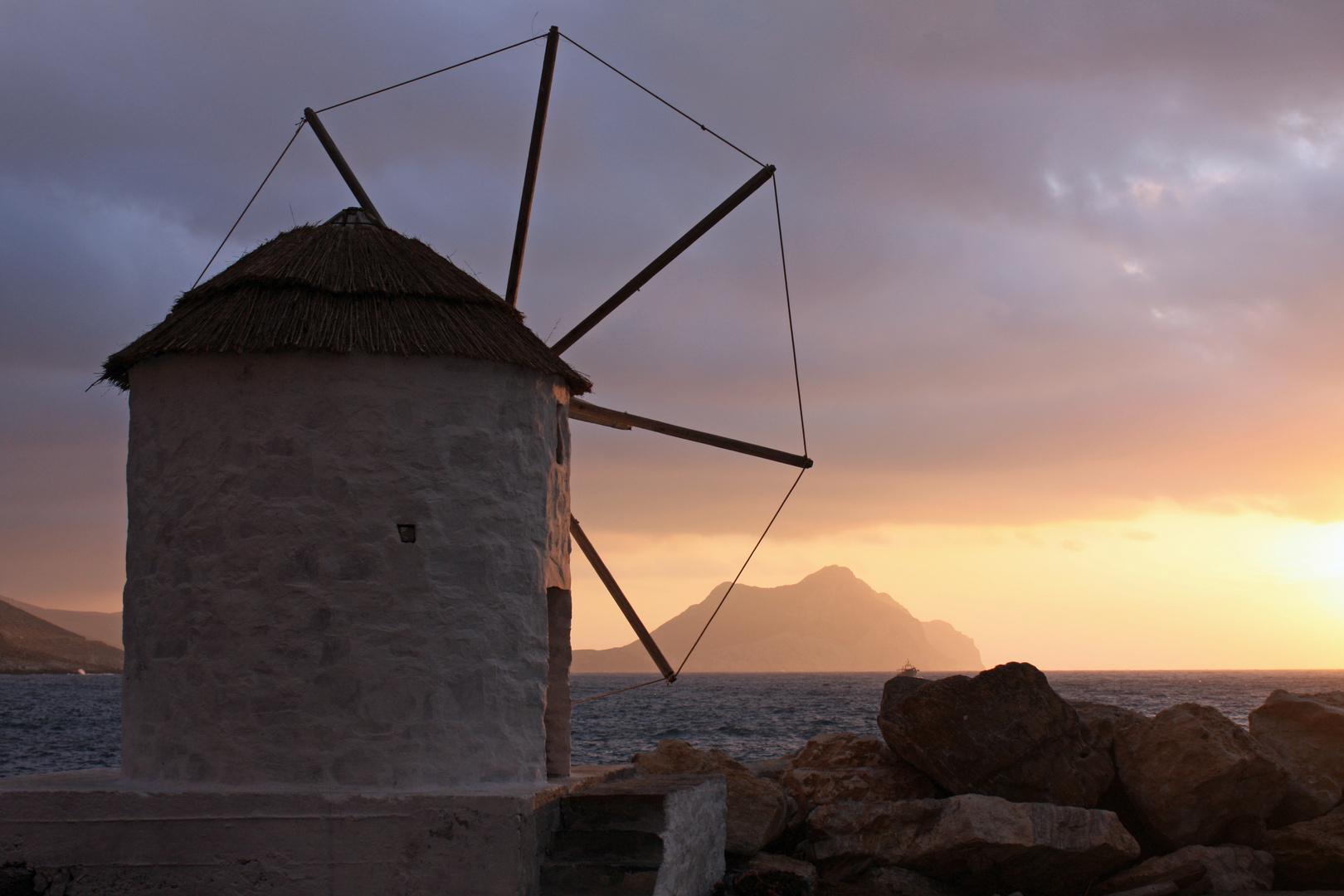 Coucher de soleil à Amorgos