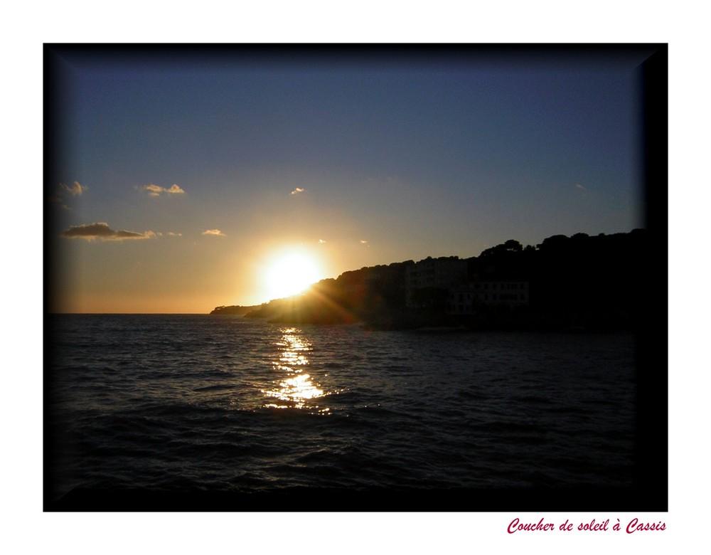Coucher de soleil à Cassis