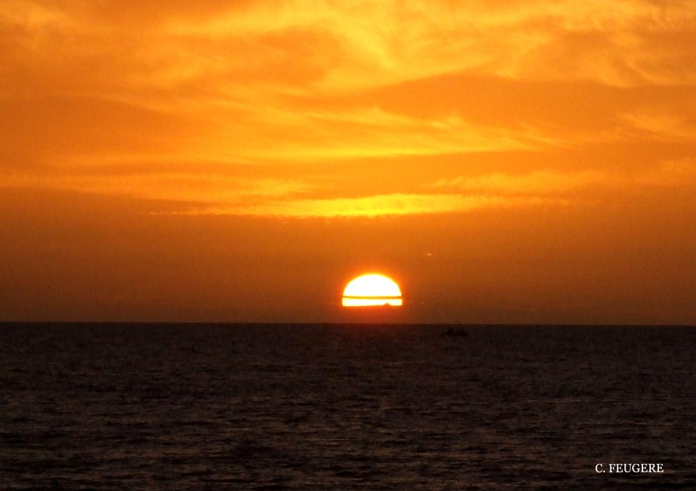 Coucher de soleil à Criel sur mer (2)