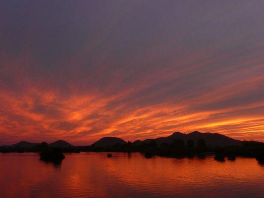 Coucher de soleil à Dundet, Laos (4000 îles)