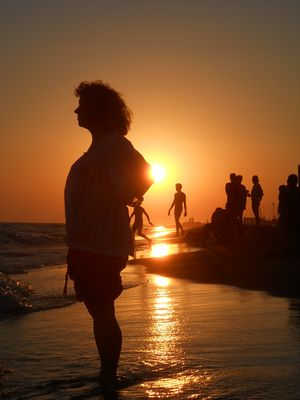 coucher de soleil à Fiumicino