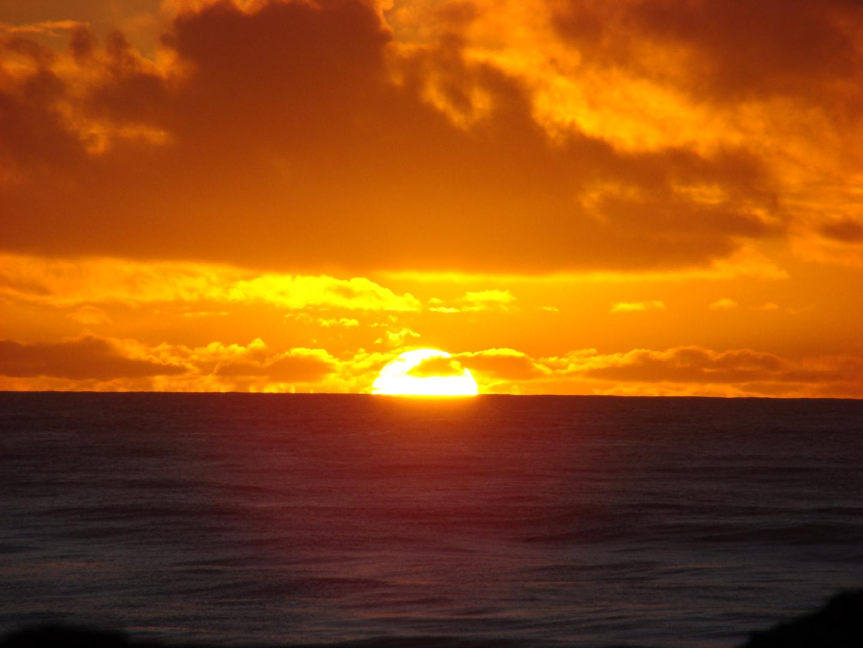 coucher de soleil a grymouth (NZ)