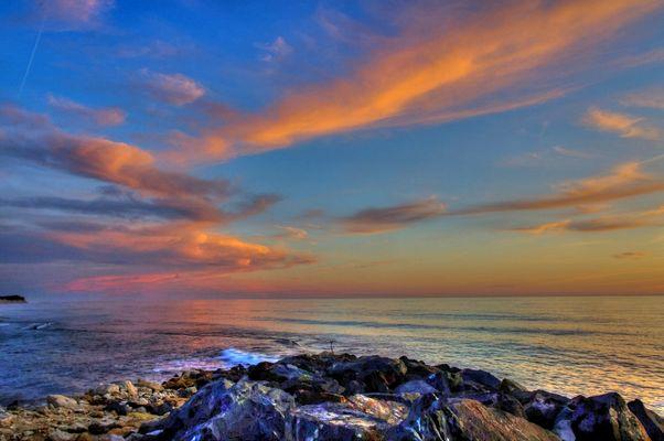coucher de soleil à l amelie