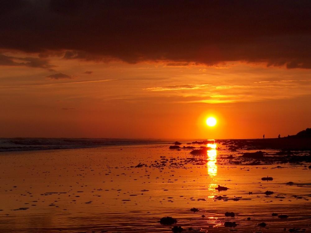 Coucher de soleil à la Tranche sur Mer 01