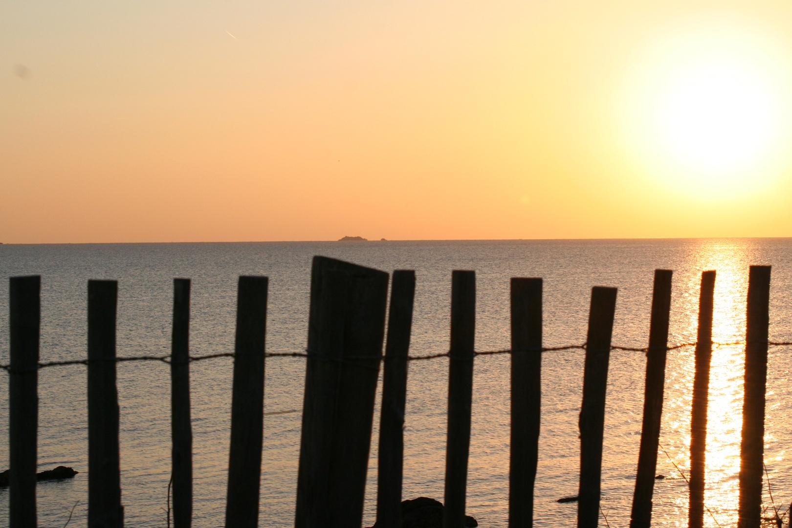 coucher de soleil à l'Almanarre