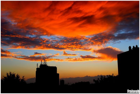 Coucher de soleil à Limoges