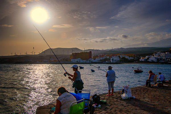 Coucher de soleil a l'îlle de Tenerife