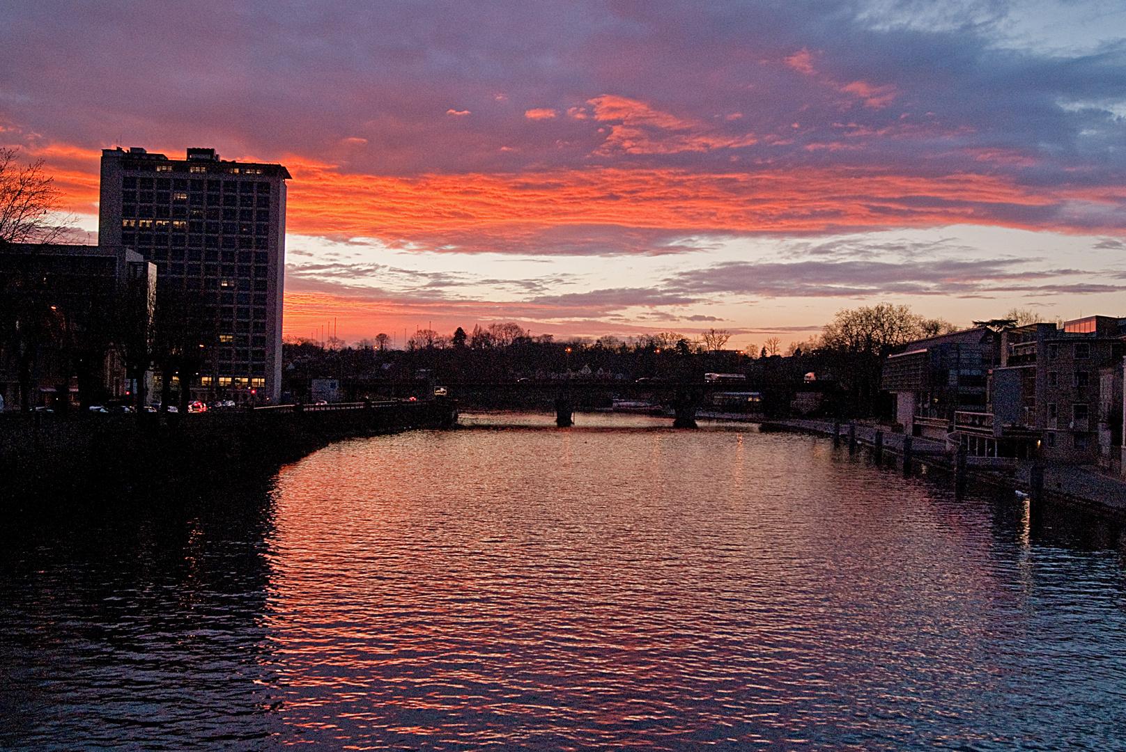 coucher de soleil à Melun