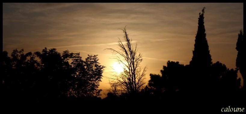 coucher de soleil a MONDRAGON