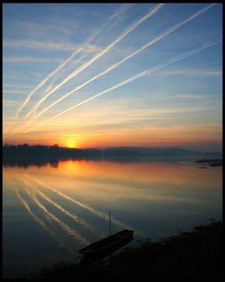 Coucher de Soleil à Saint Mathurin sur Loire