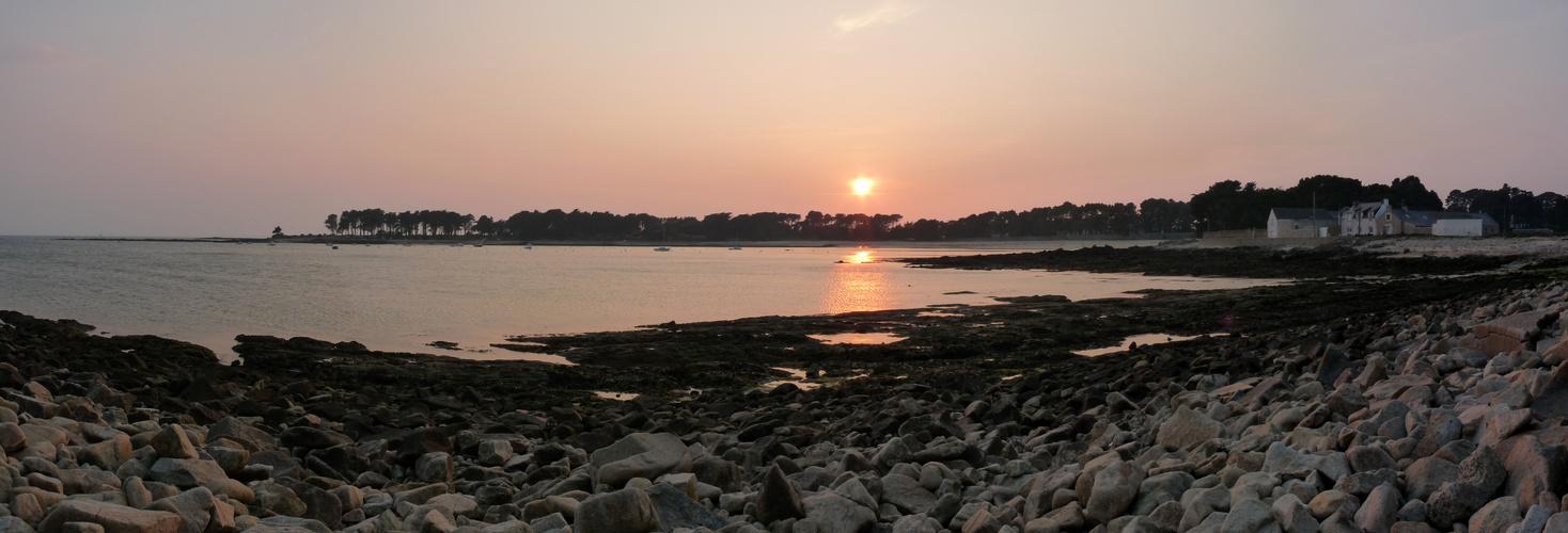 Coucher de soleil à Saint Philibert