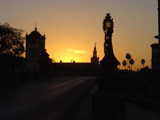 Coucher de soleil à Séville
