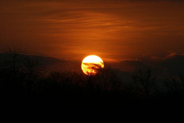 coucher de soleil - Alsace Mars 2012-