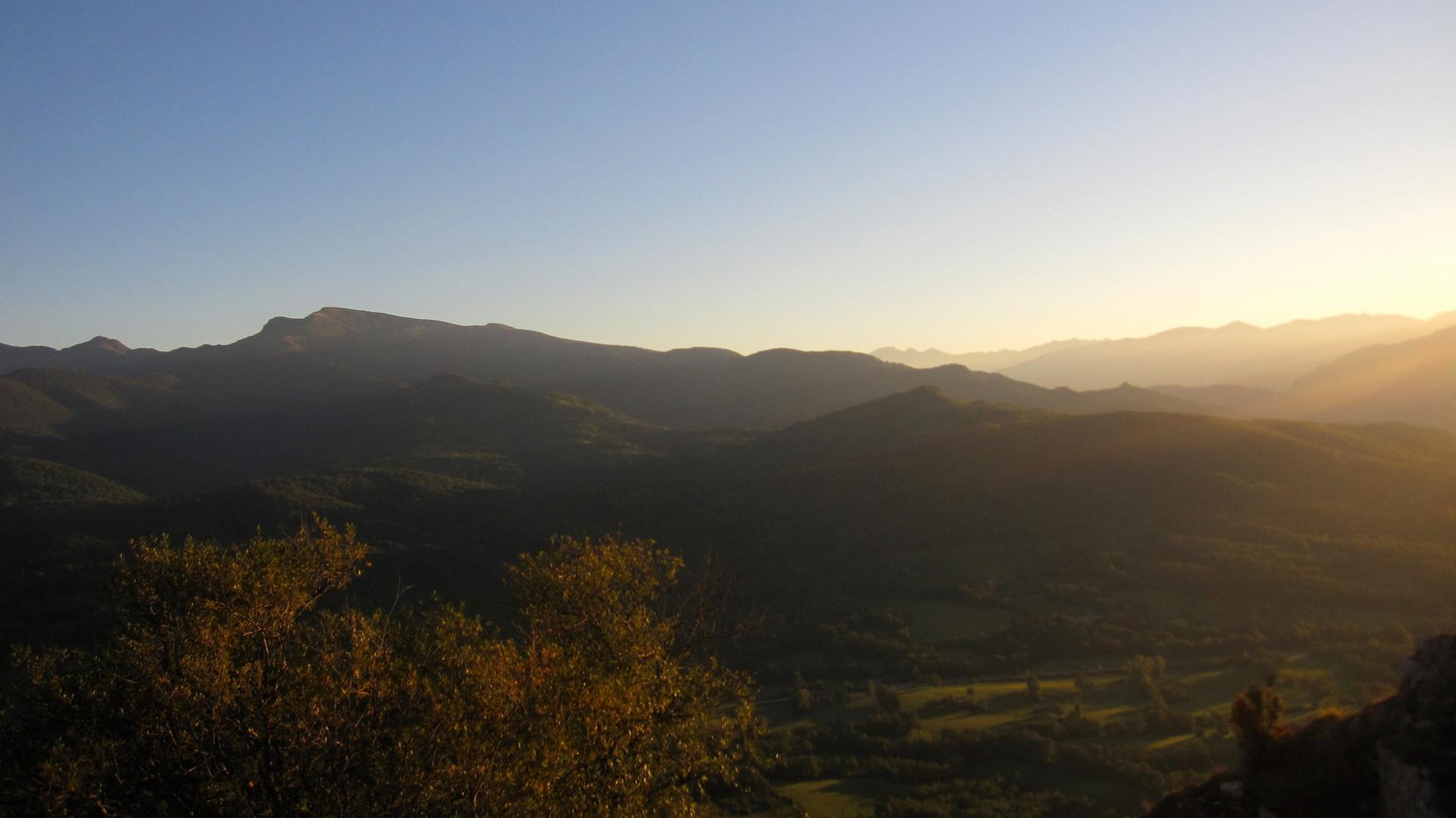coucher de soleil ariegeois
