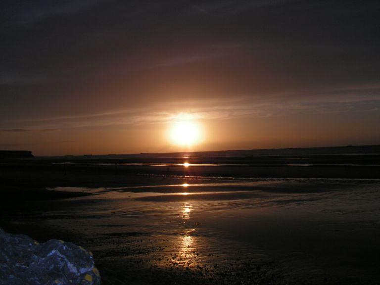 coucher de soleil, Asnelle en Normandie