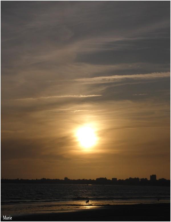 Coucher de soleil au bord de mer =)