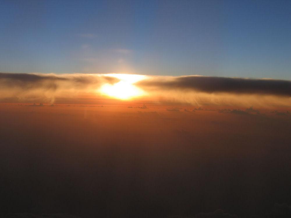 Coucher de Soleil au dessus de l'Atlantique