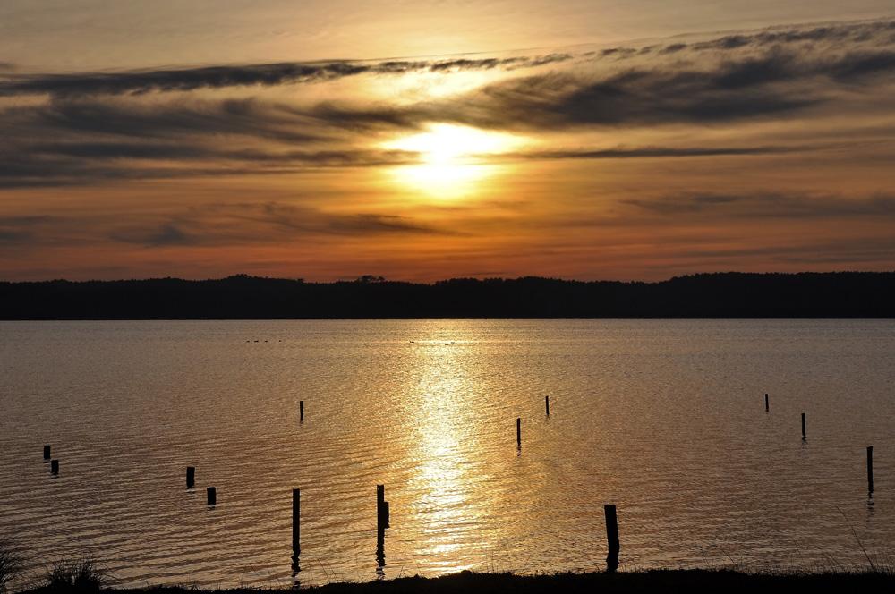 coucher de soleil au lac !!!  (2)