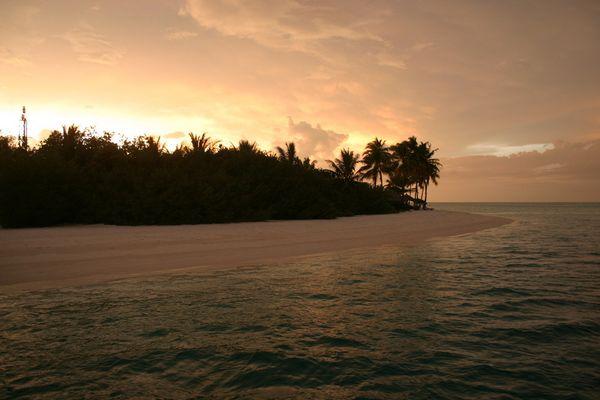 Coucher de soleil au maldives