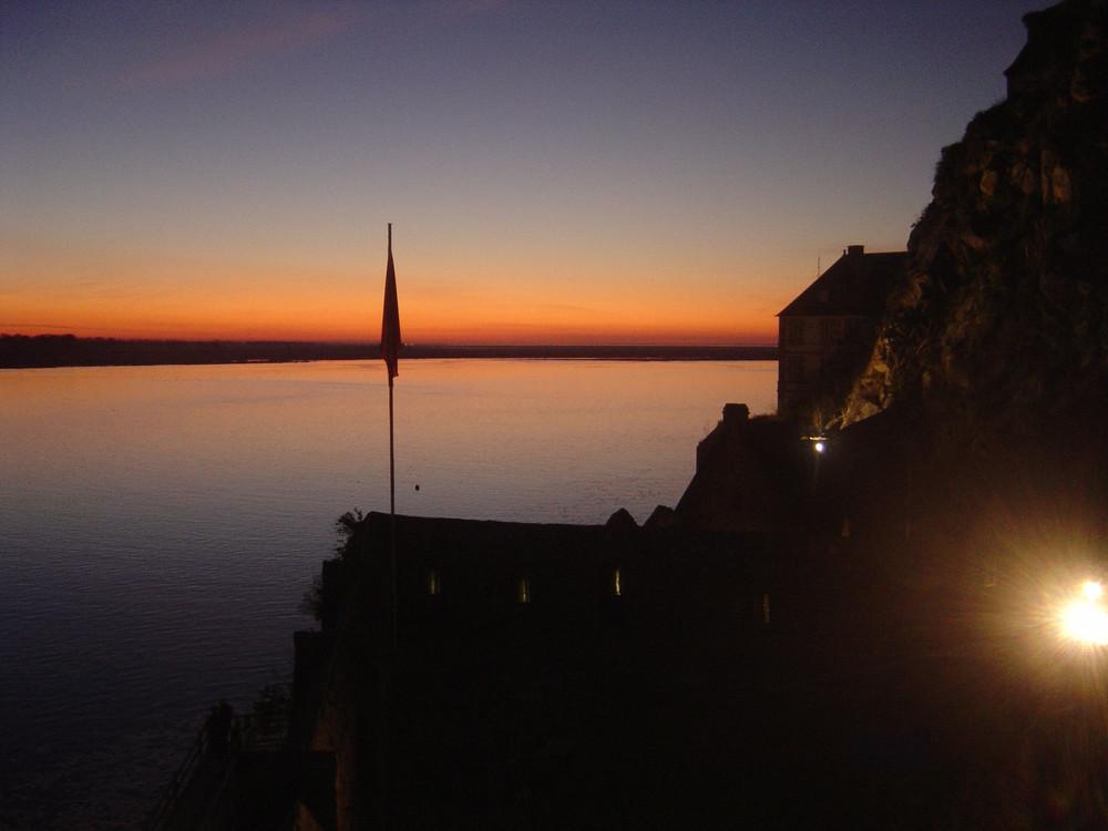 Coucher de soleil au Mont St Michel