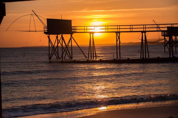 coucher de soleil aux moutiers 2