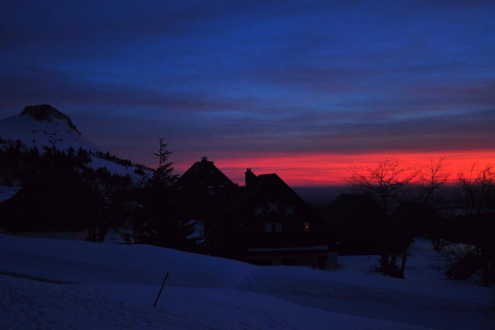 coucher de soleil chastreix